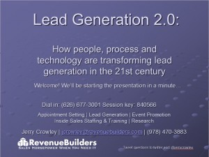 View Our Lead Generation 2.0 Presentation